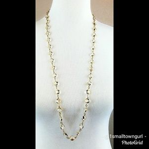 J. Crew crystal bead long chain necklace 22""